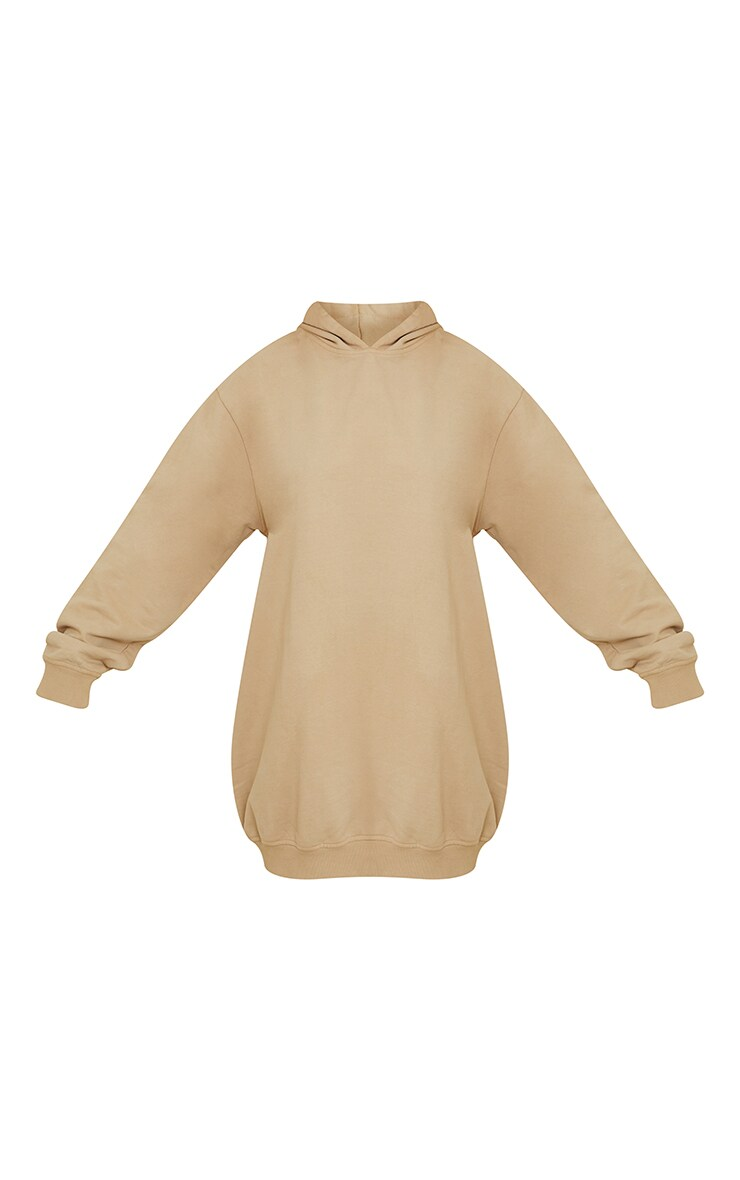 PRETTYLITTLETHING Slogan Stone Oversized Sweater Dress 5