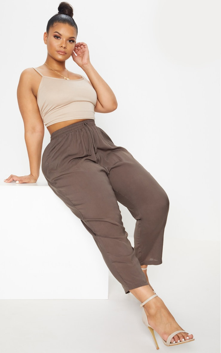 Plus Khaki Casual Pants 1
