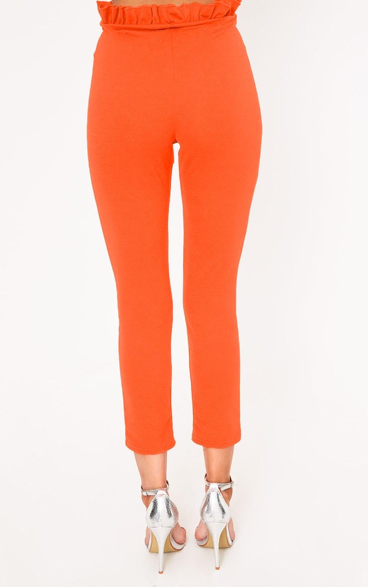 Orange Paper Bag Skinny Trousers 4