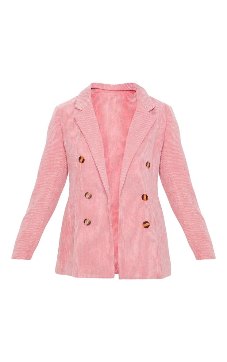 Pink Cord Oversized Boyfriend Blazer 3