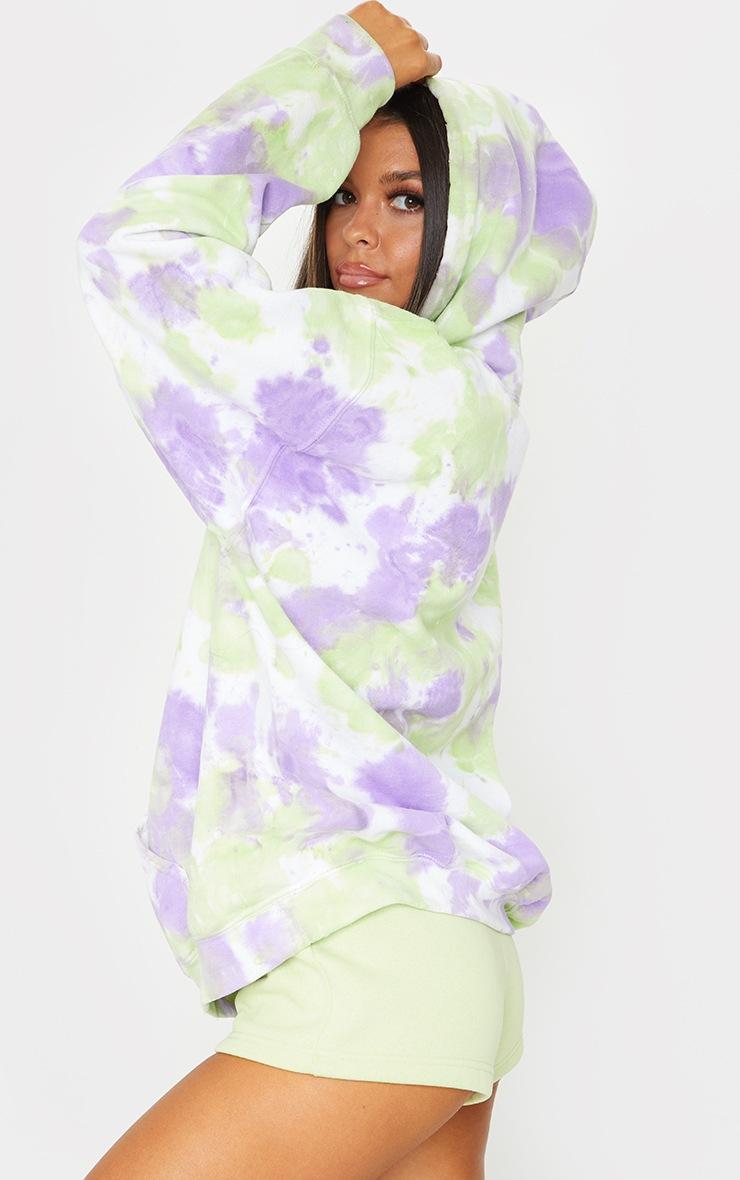 Purple Tie Dye Oversized Hoodie 2