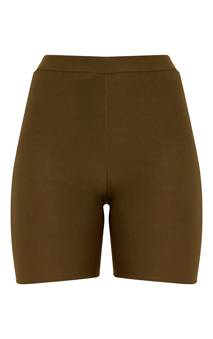 Bella Khaki Slinky High Waisted Cycle Shorts 3