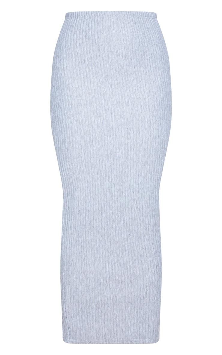 Grey Jumbo Rib Midaxi Skirt 4