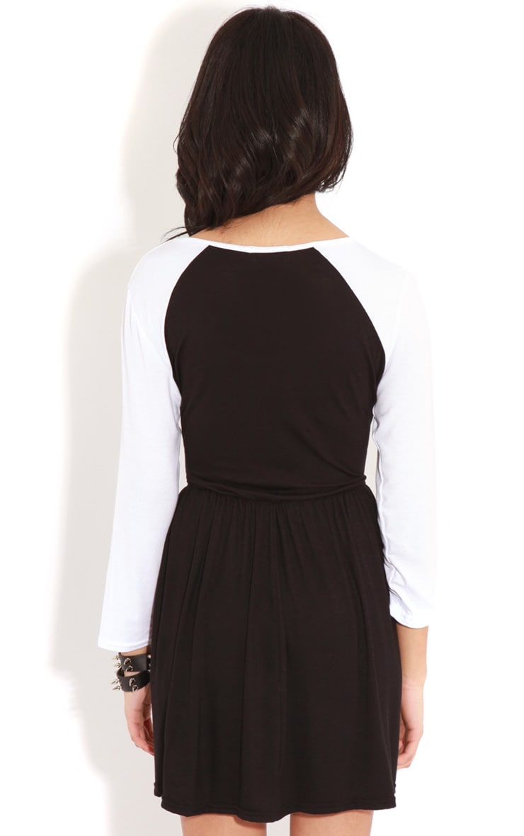 Cammy Monochrome Skater Dress 2