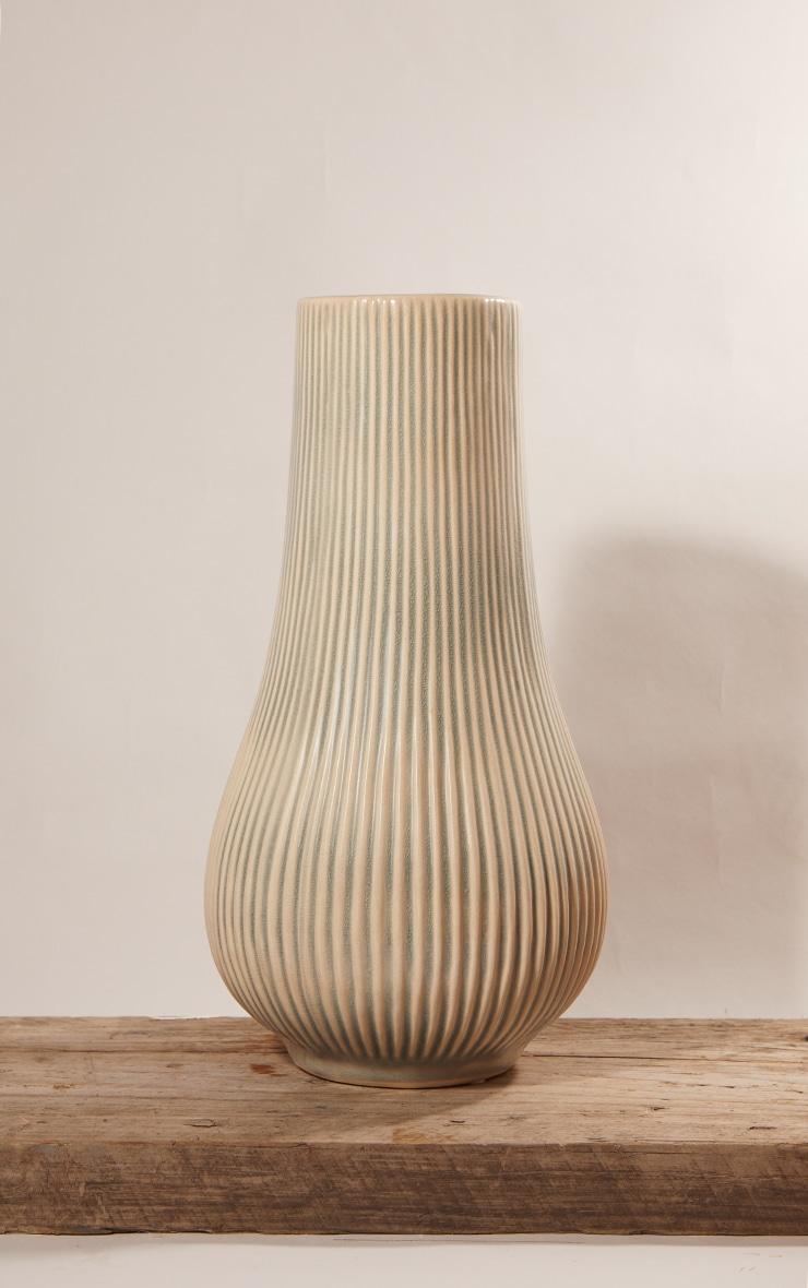 PLT Home - Grand vase gris pierre en forme de goutte 2