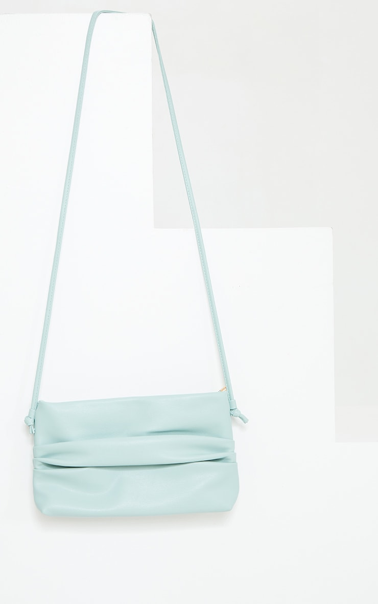 Mint Ruched Side Cross Body Bag 2