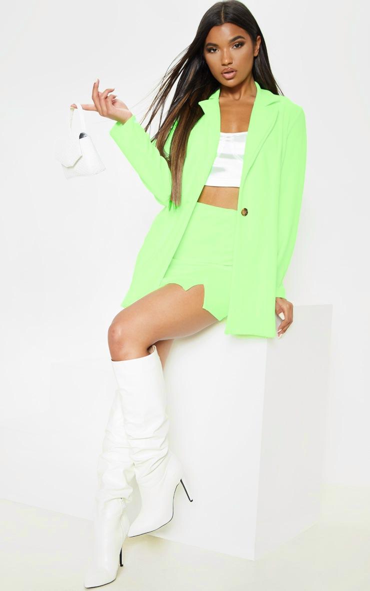 Neon Green Oversized Boyfriend Blazer  4