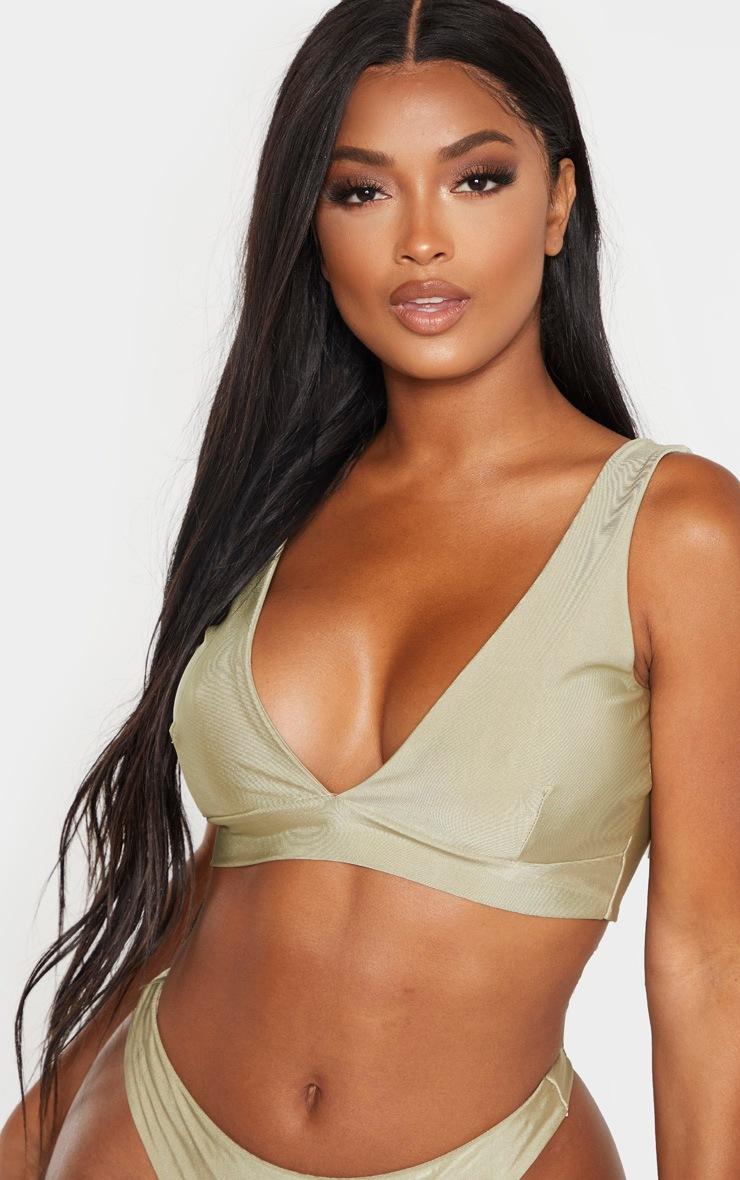 Shape Sage Green Deep Plunge Bikini Top 5