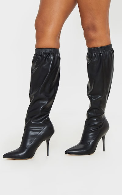 Black Slouch Knee Boot