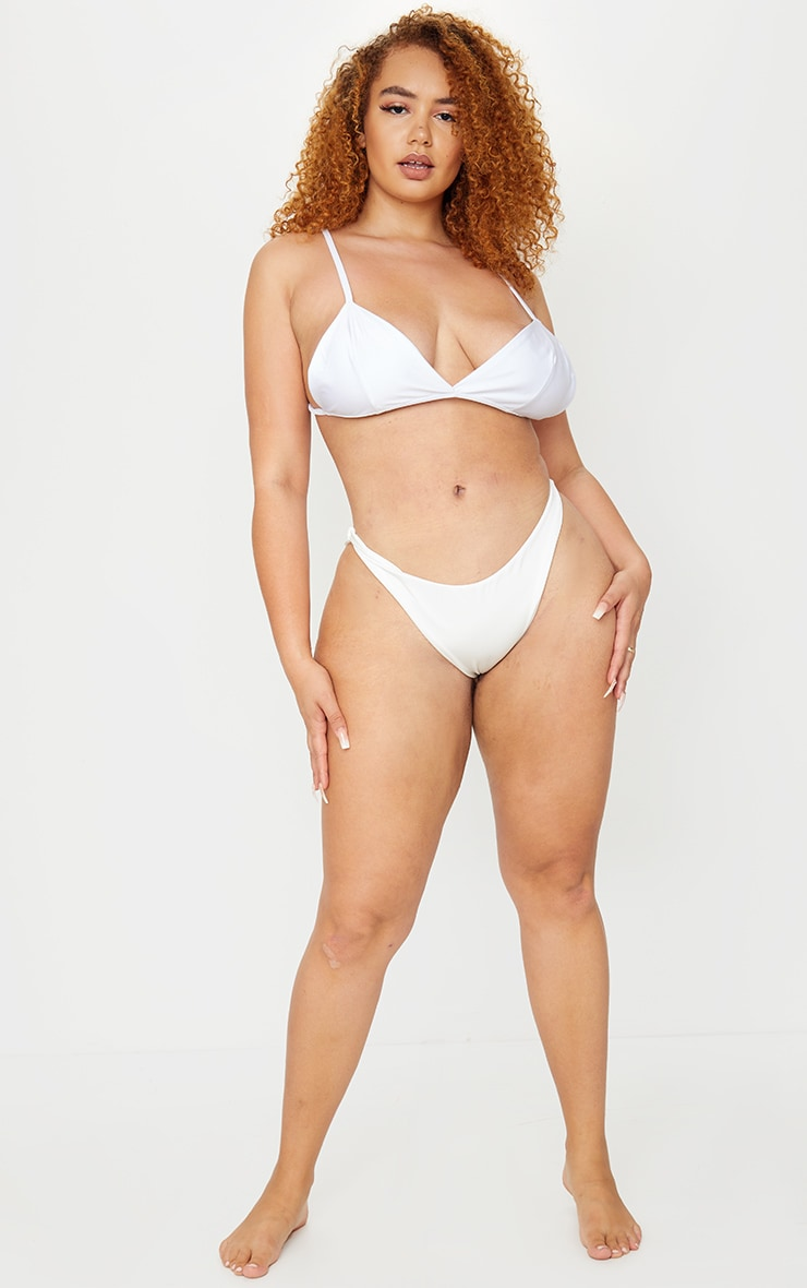 Plus White Mix & Match Itsy Bitsy Bikini Top 3