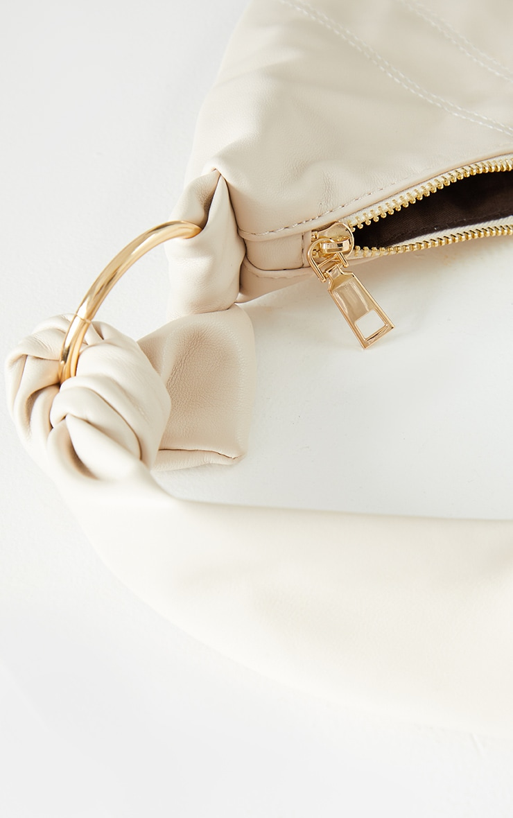 Nude Knotted Cross Body Bag 4