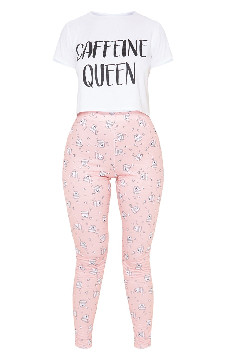 Pink Caffeine Queen Pj Legging Set 3