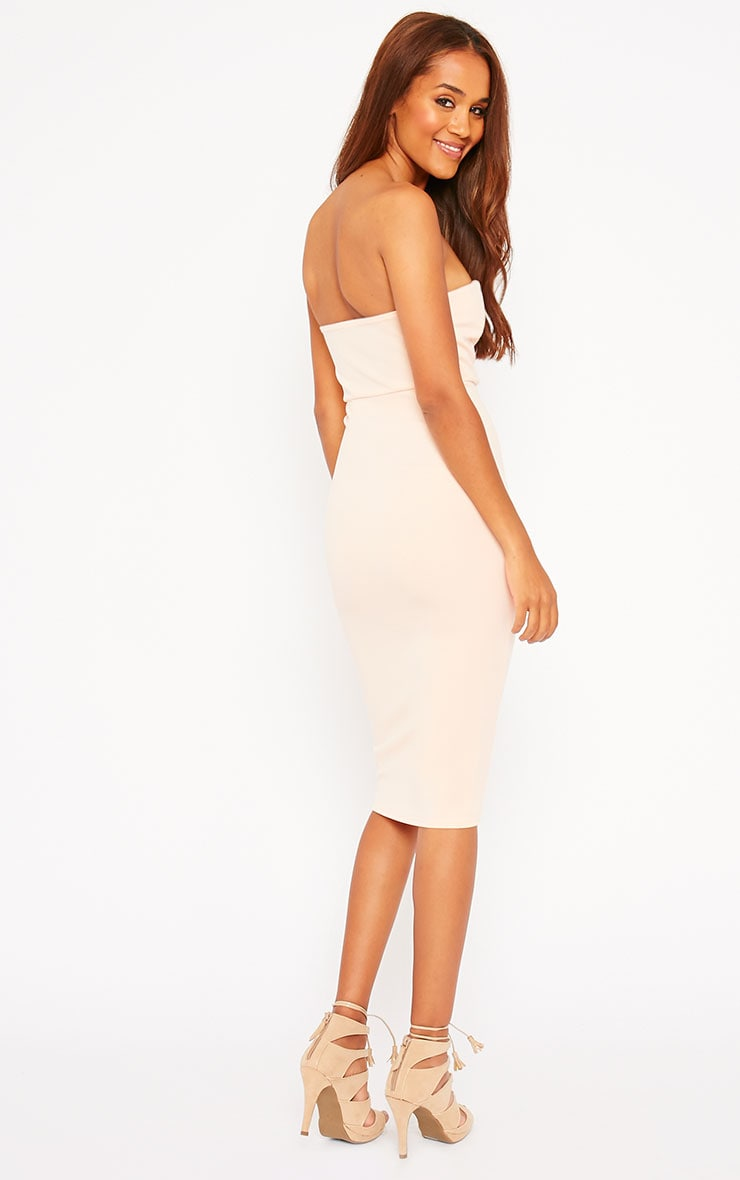 Zenda Nude Bandeau Midi Dress 4