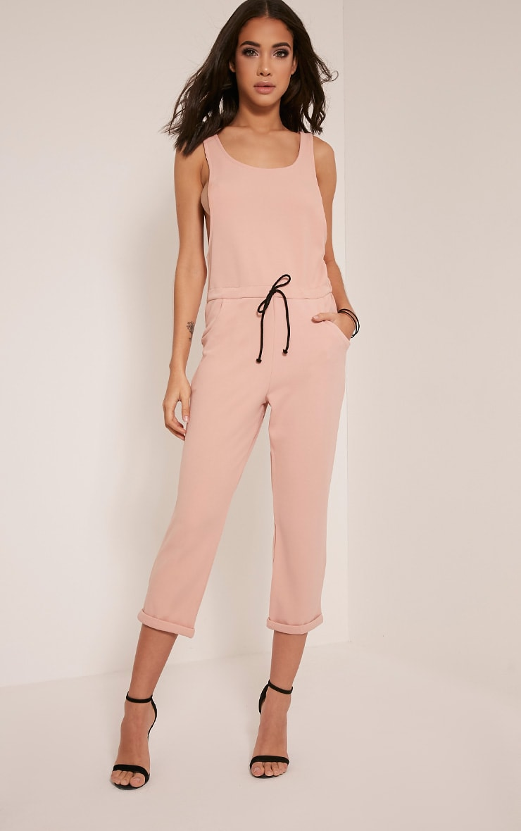 Shaya Nude Loose Fit Jumpsuit 1