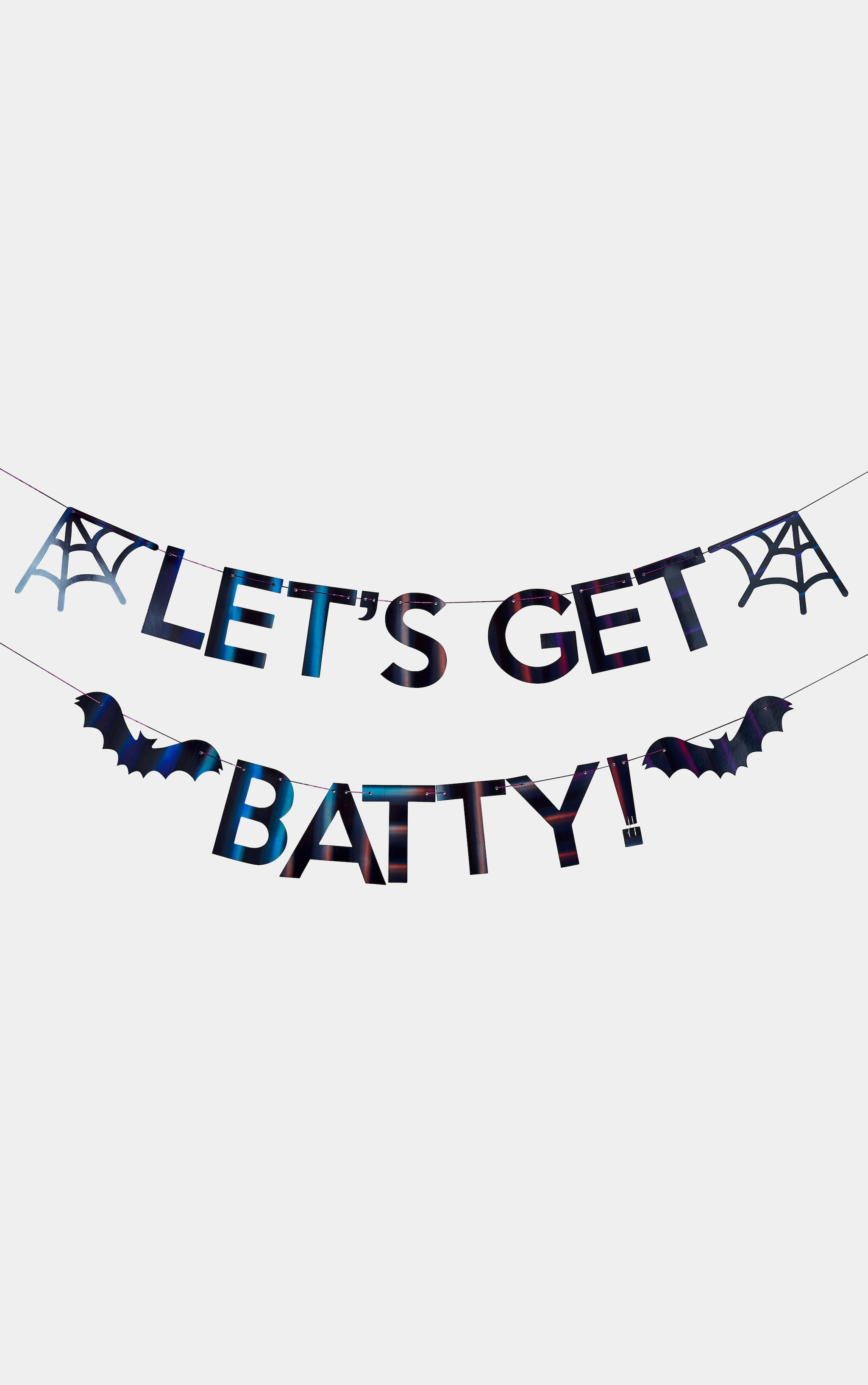 Ginger Ray Bunting Let's Get Batty Iridescent Black 2
