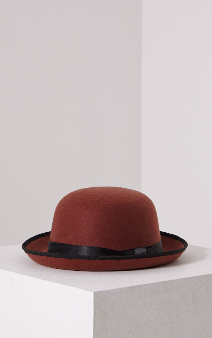 Albo Rust Bowler Hat 3