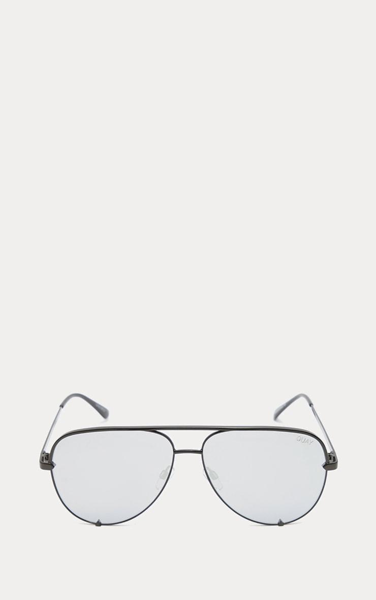 QUAY AUSTRALIA Silver X Desi High Mini Aviator Sunglasses 2