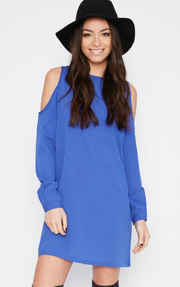 Genny Cobalt Cut Out Shoulder Dress 4