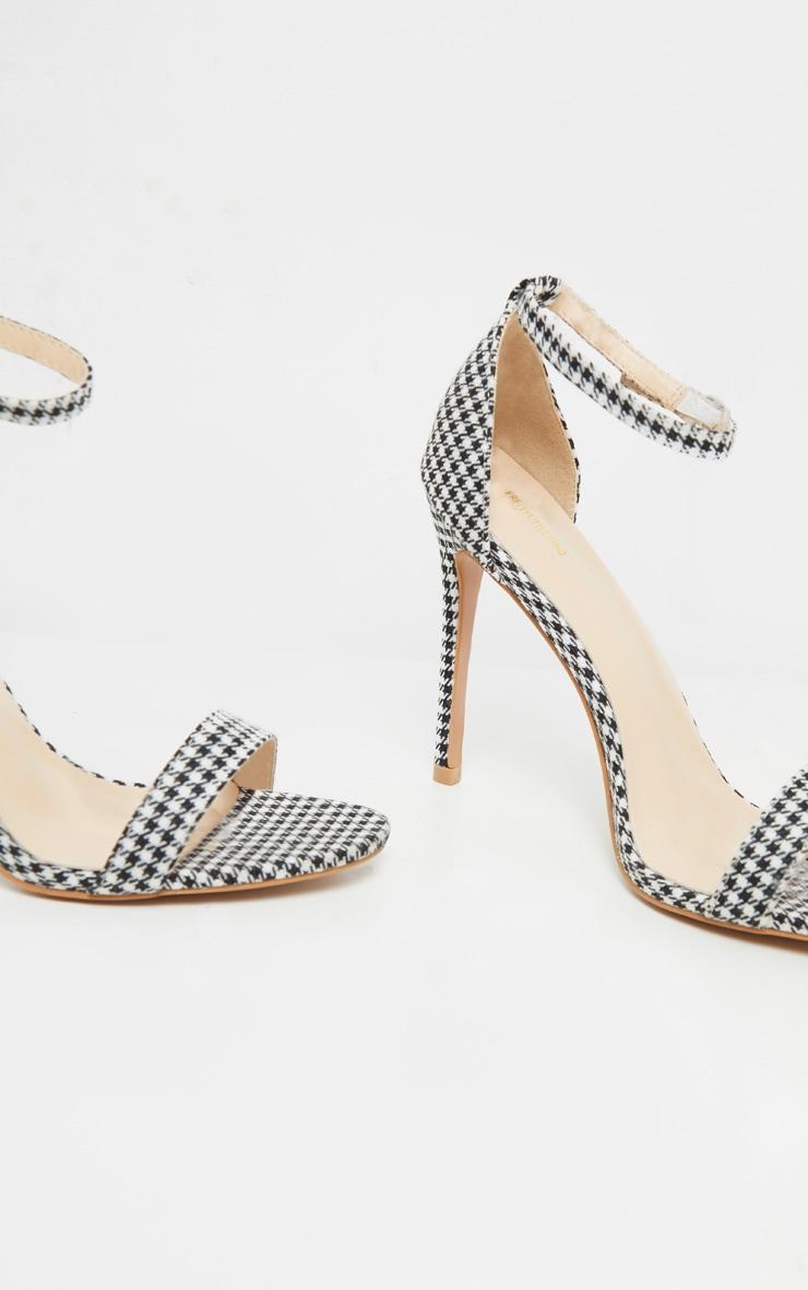 Sandales Clover à brides pied-de-poule 4