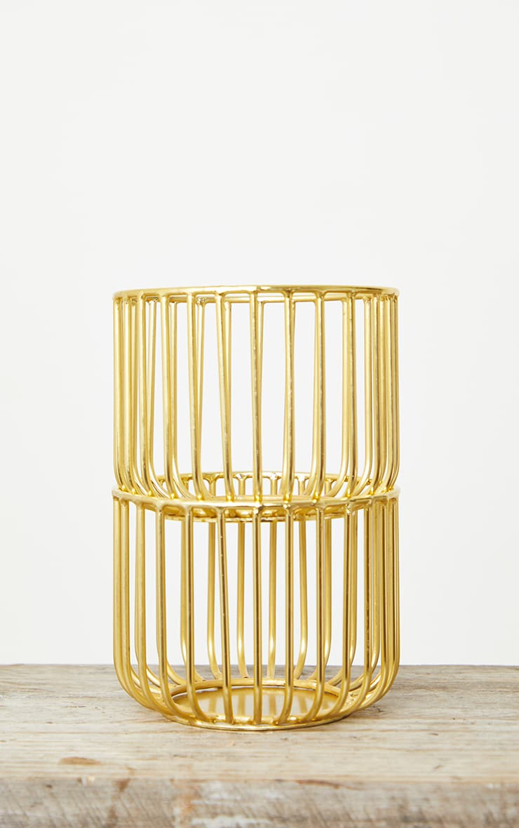 Gold 2 Pack Wire Basket 5