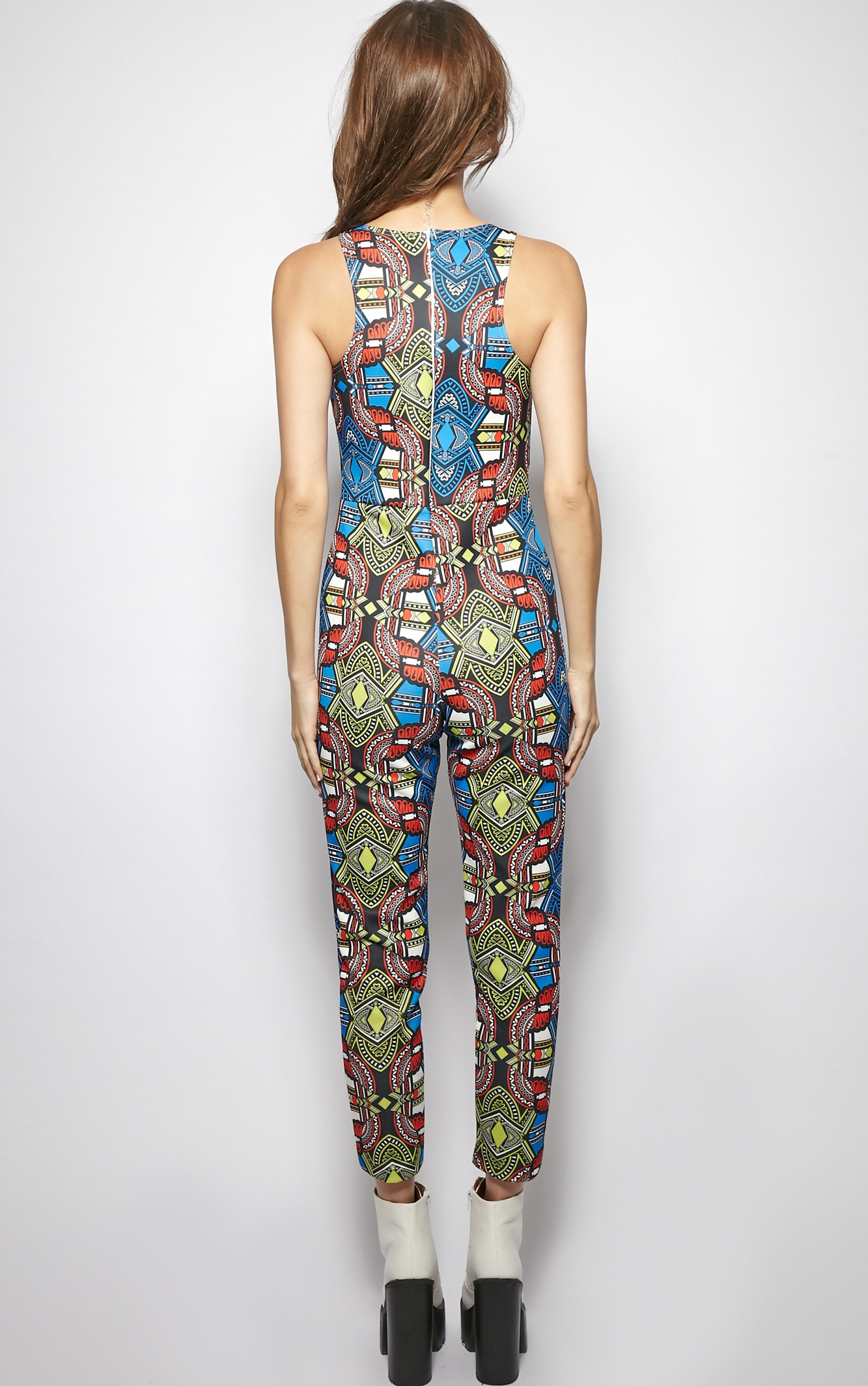 Callie Abstract Aztec Print Jumpsuit 2