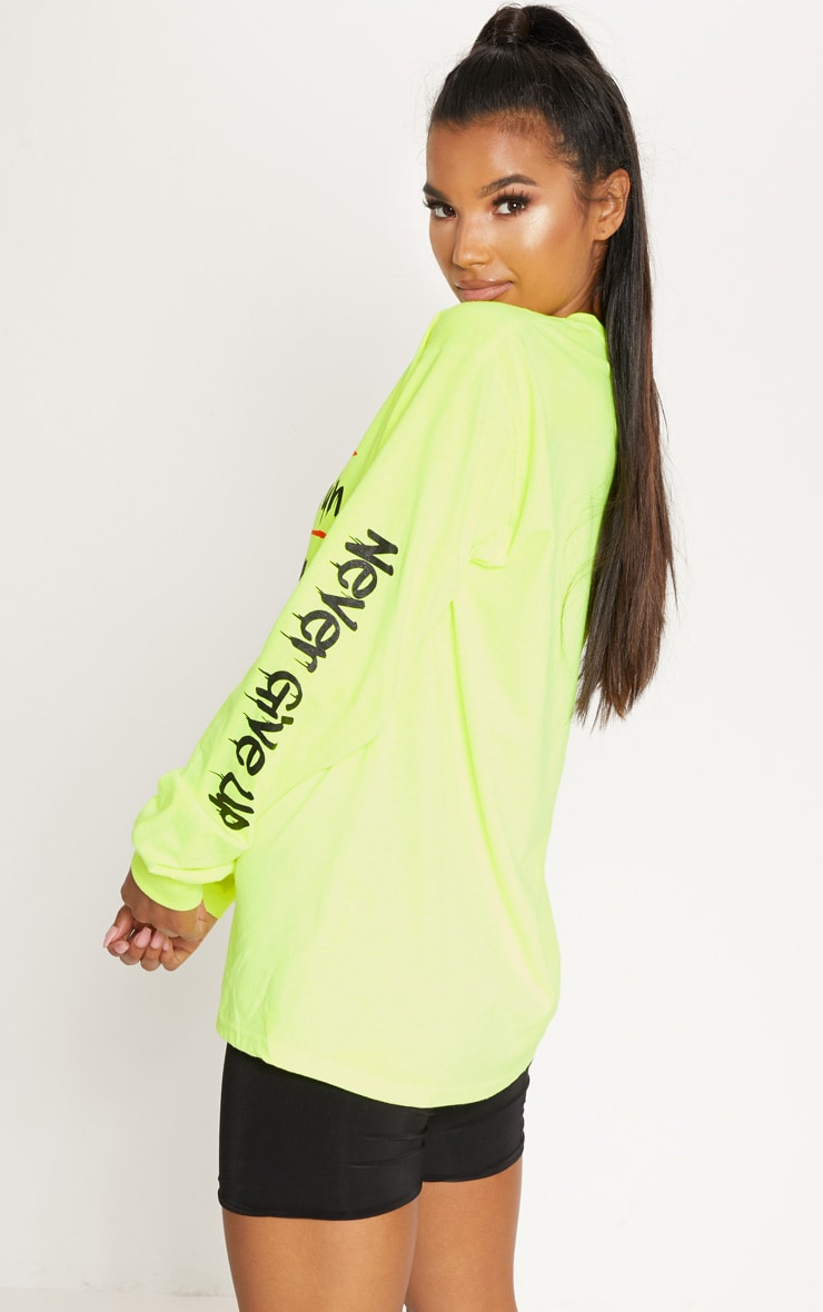 Yellow Cest La Vie Slogan Long Sleeve Top 2