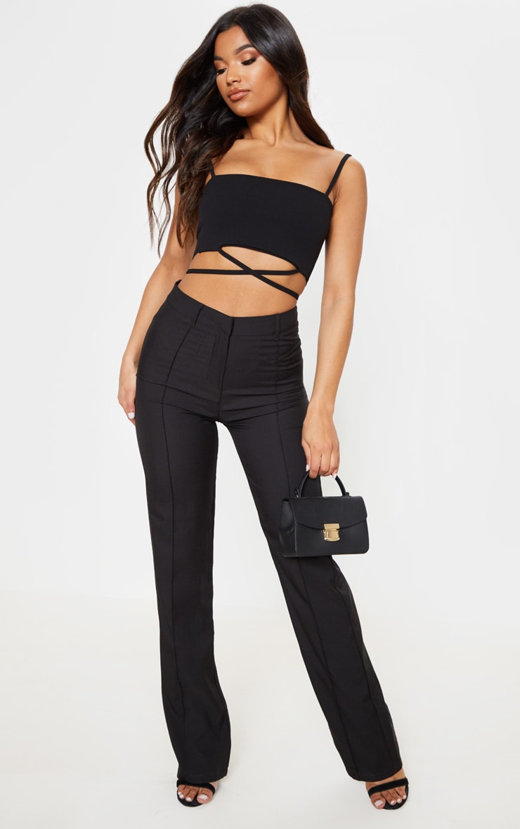 Black Strap Crop Top 4