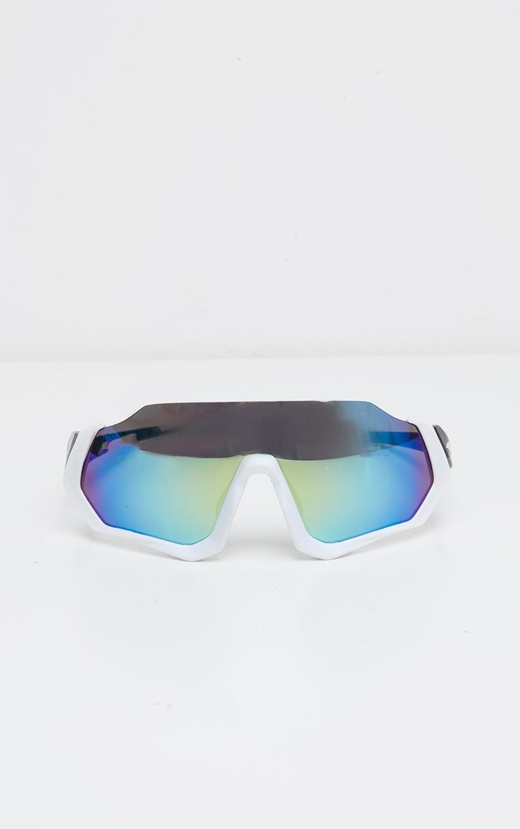White Revo Lens Sunglasses 1