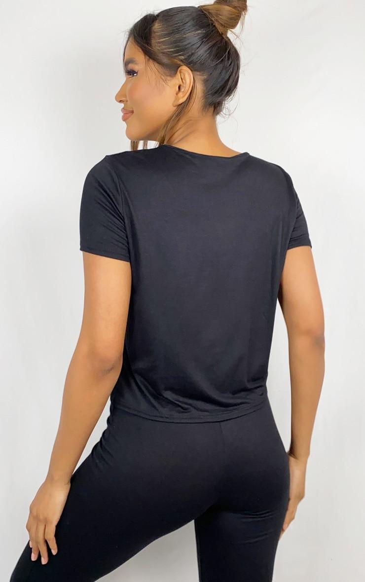 Black T-Shirt & Legging Set 2