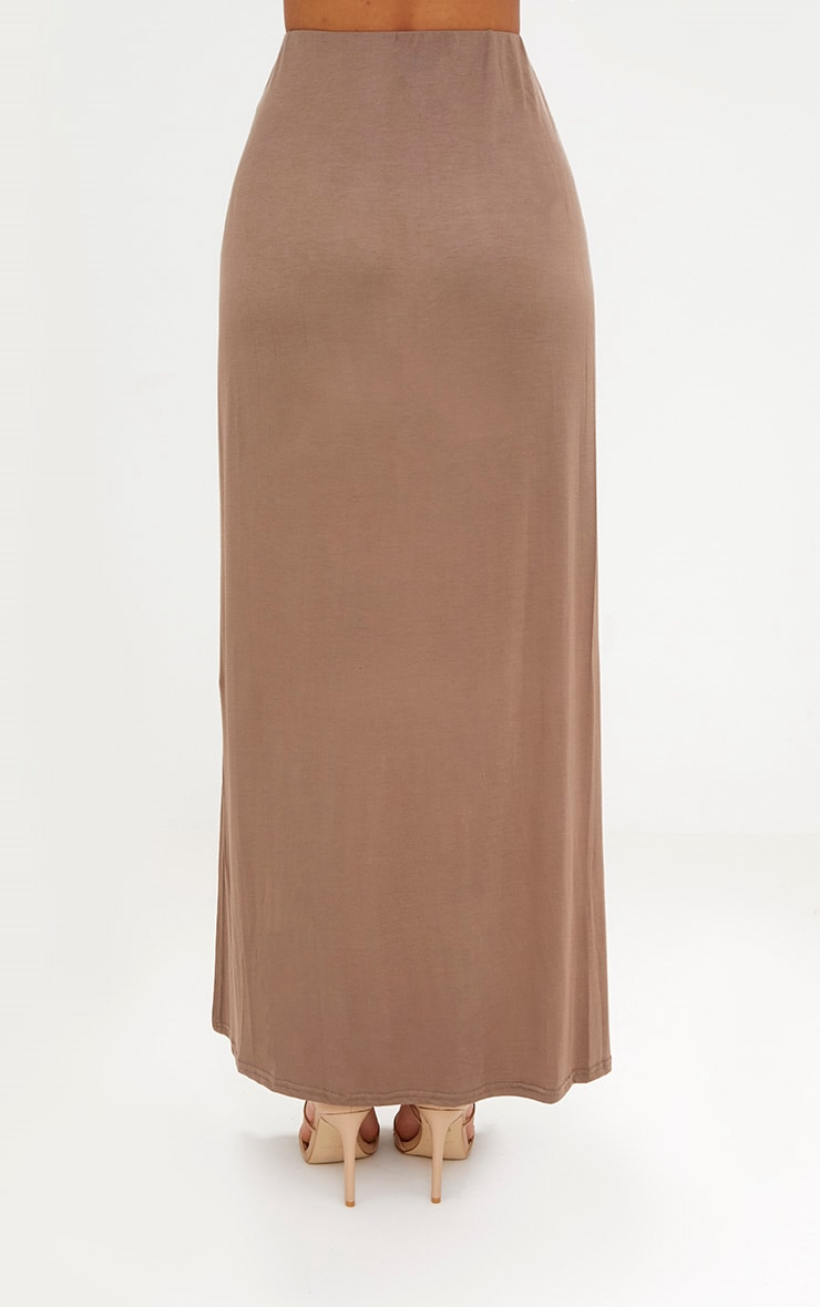 Mocha Double Split Maxi Skirt 4