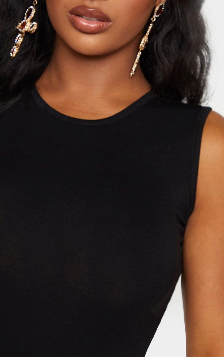 Shape Black Jersey Sleeveless Bodysuit 7