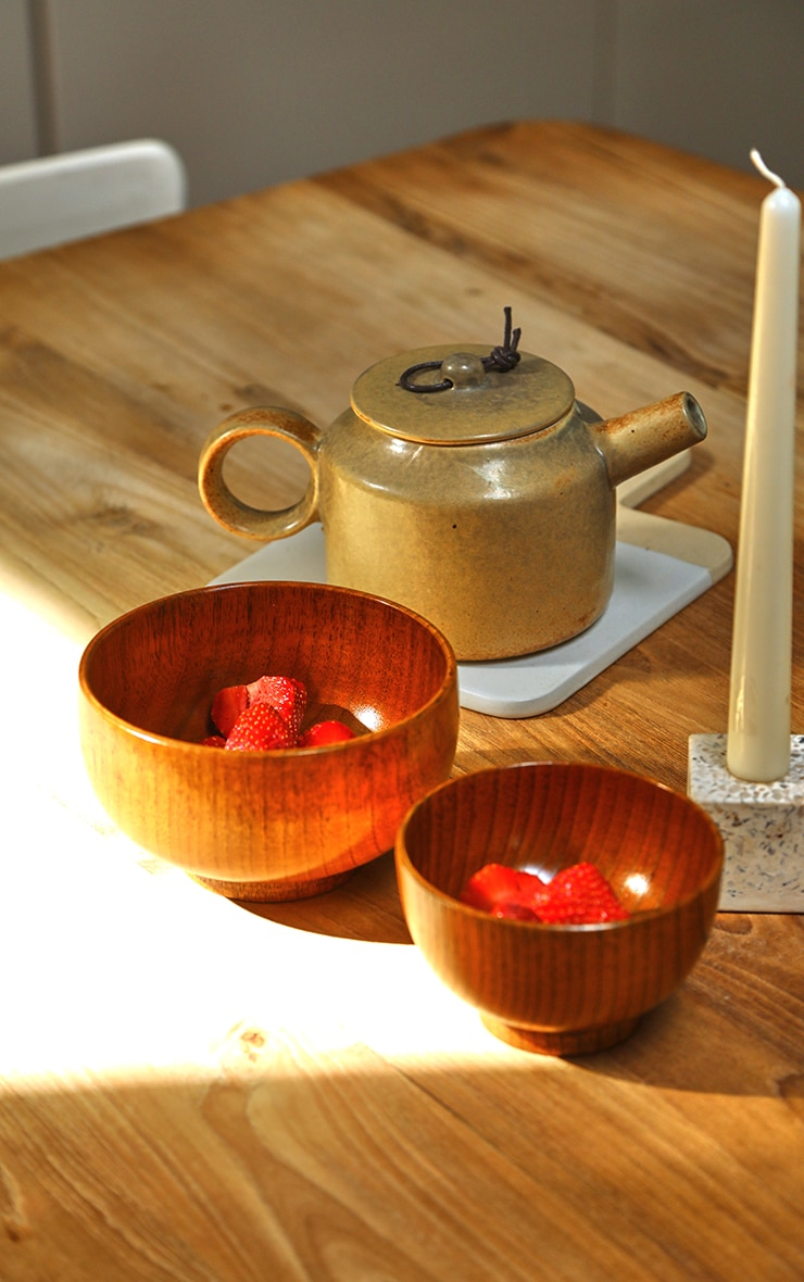 Brown Wooden Bowl 2 Pack 1