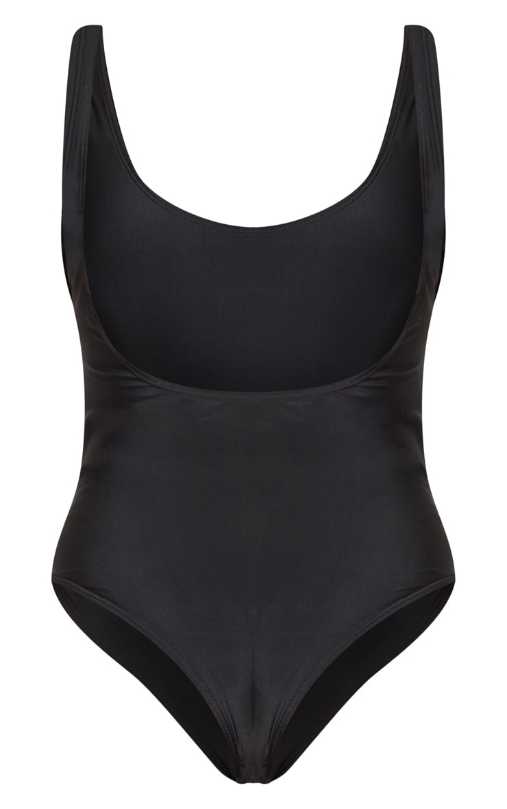 Black Basic Scoop Swimsuit 6