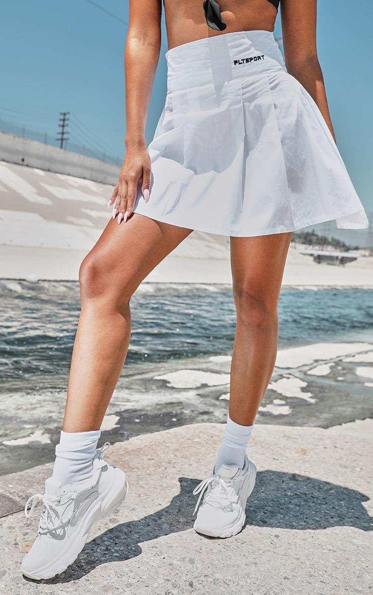 PRETTYLITTLETHING White Tennis Skirt 2
