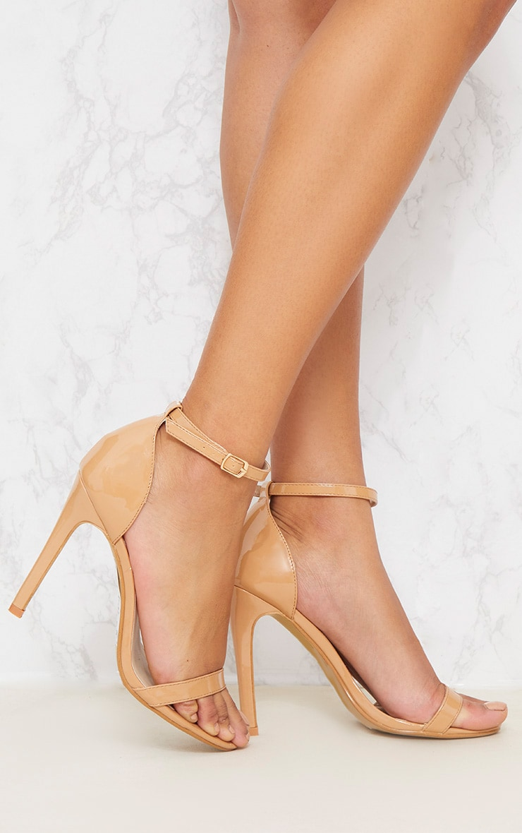 Nude Patent Heeled Strappy Sandal 1