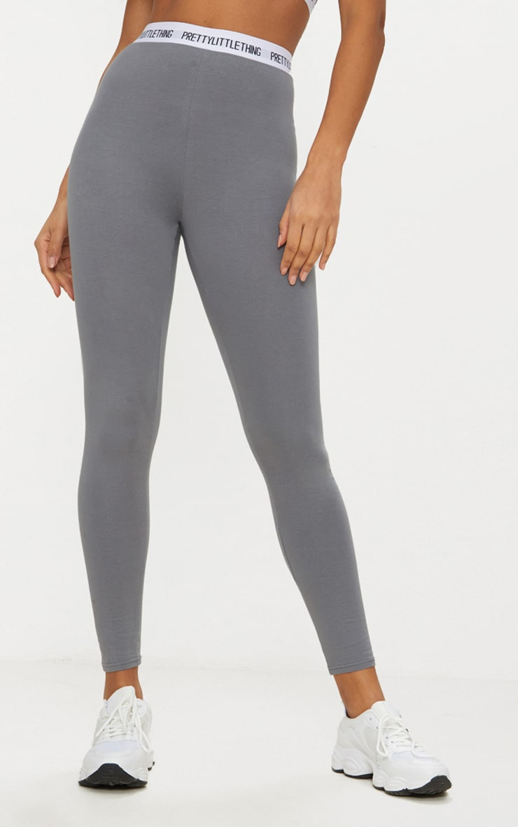 PRETTYLITTLETHING Charcoal Grey Leggings 2