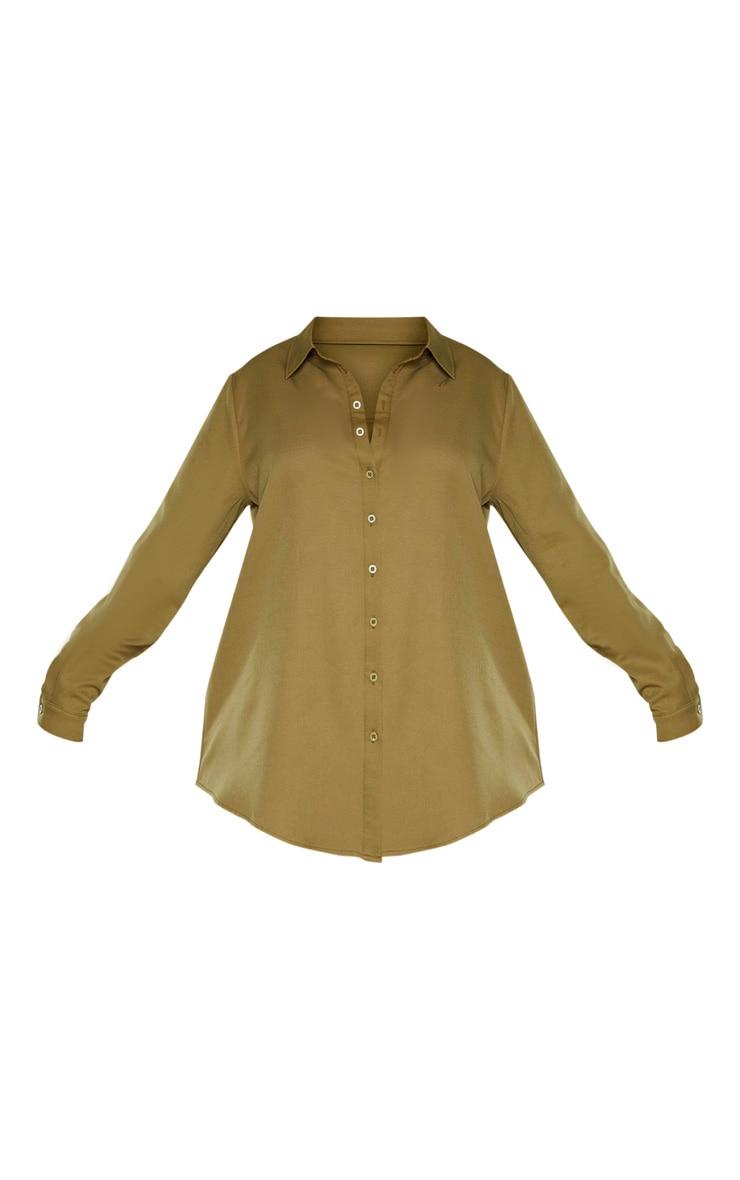Plus Khaki Oversized Shirt 3