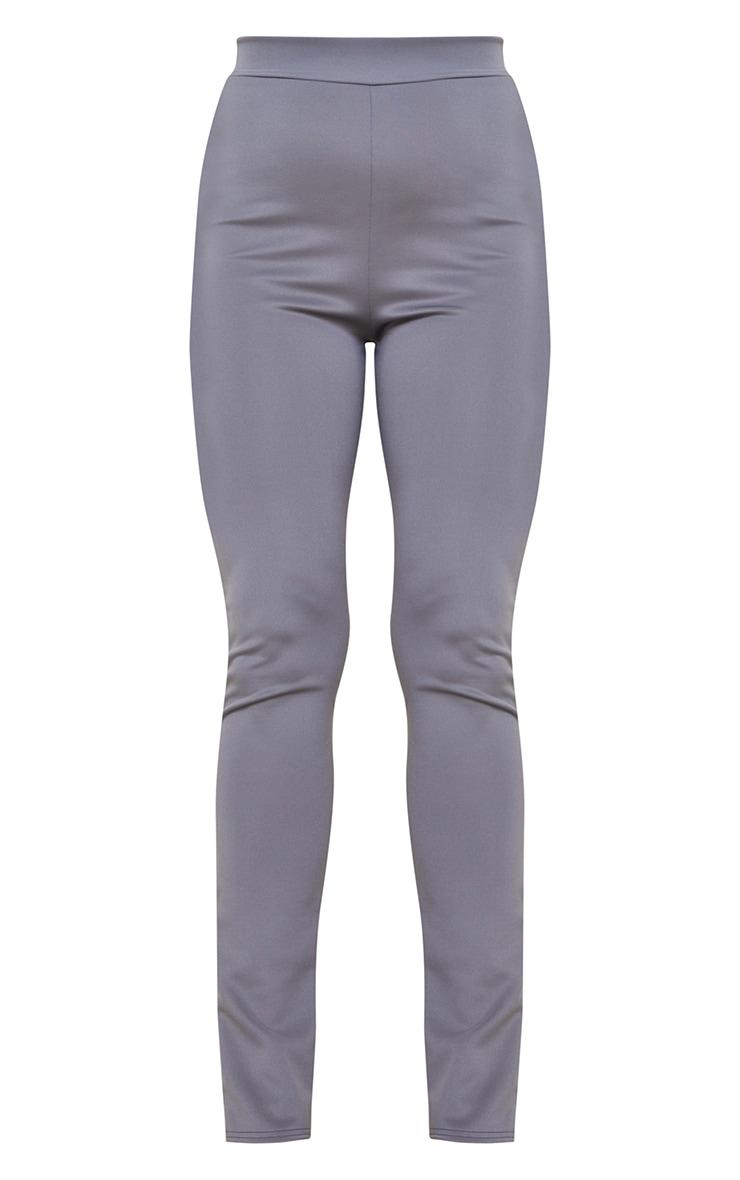 Tall Grey Back Split Hem Pants 5