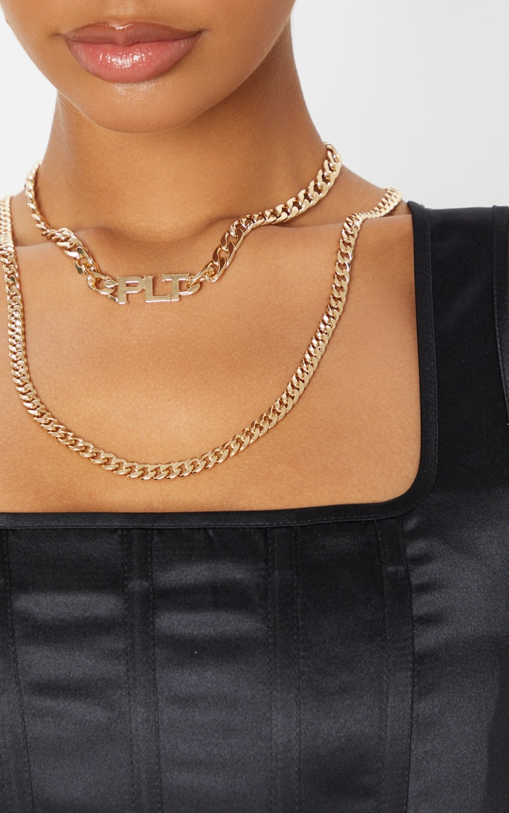 PRETTYLITTLETHING Gold Multi Layering Necklace 2