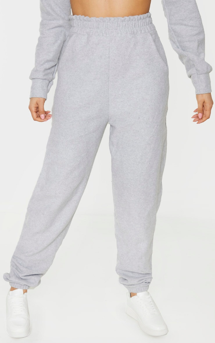 Tall Grey Brushed Sweat Oversized Joggers 2