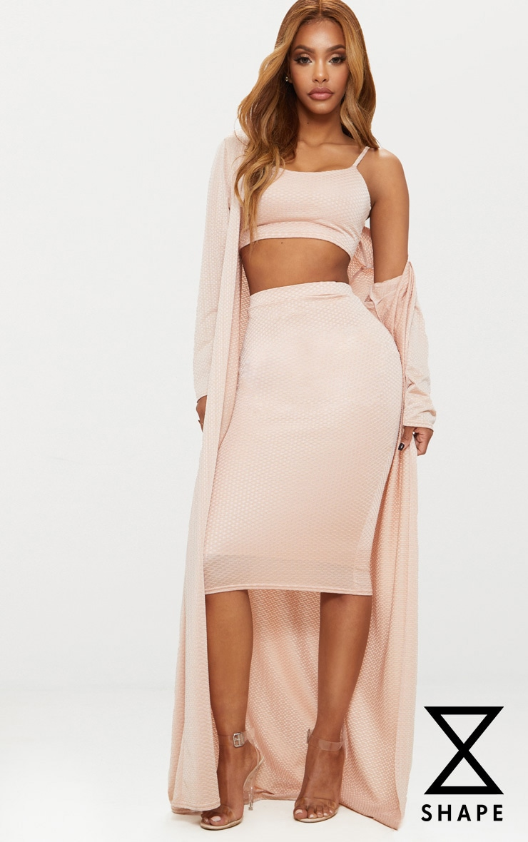 Shape Champagne Textured Duster Coat