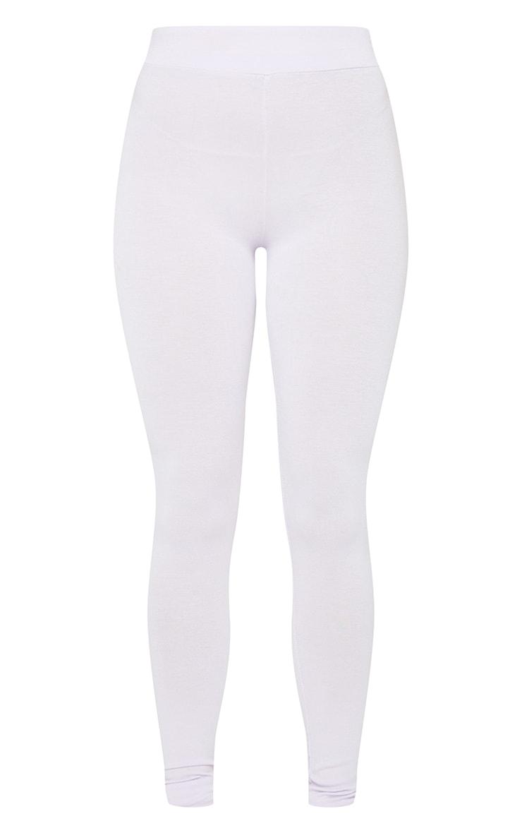 Lilac Basic High Waisted Jersey Leggings 5