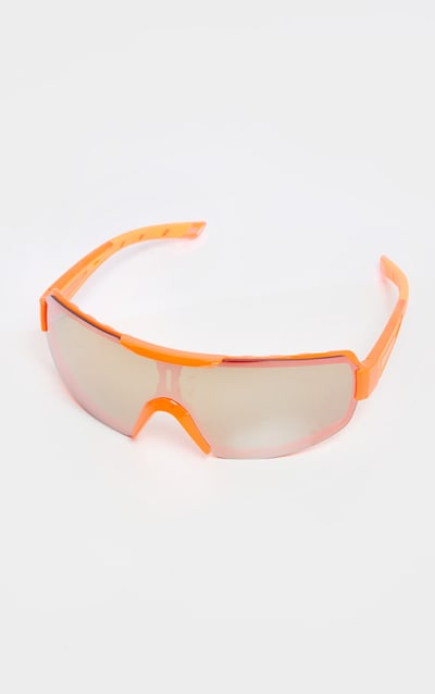 Neon Orange Revo Sports Visor Sunglasses