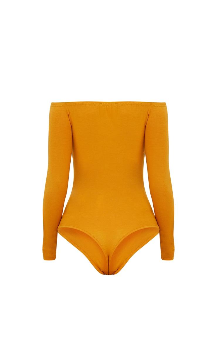 Basic Mustard Bardot Bodysuit 4