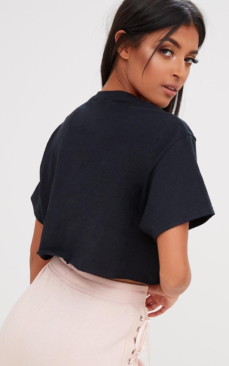 Black Crop T Shirt 2