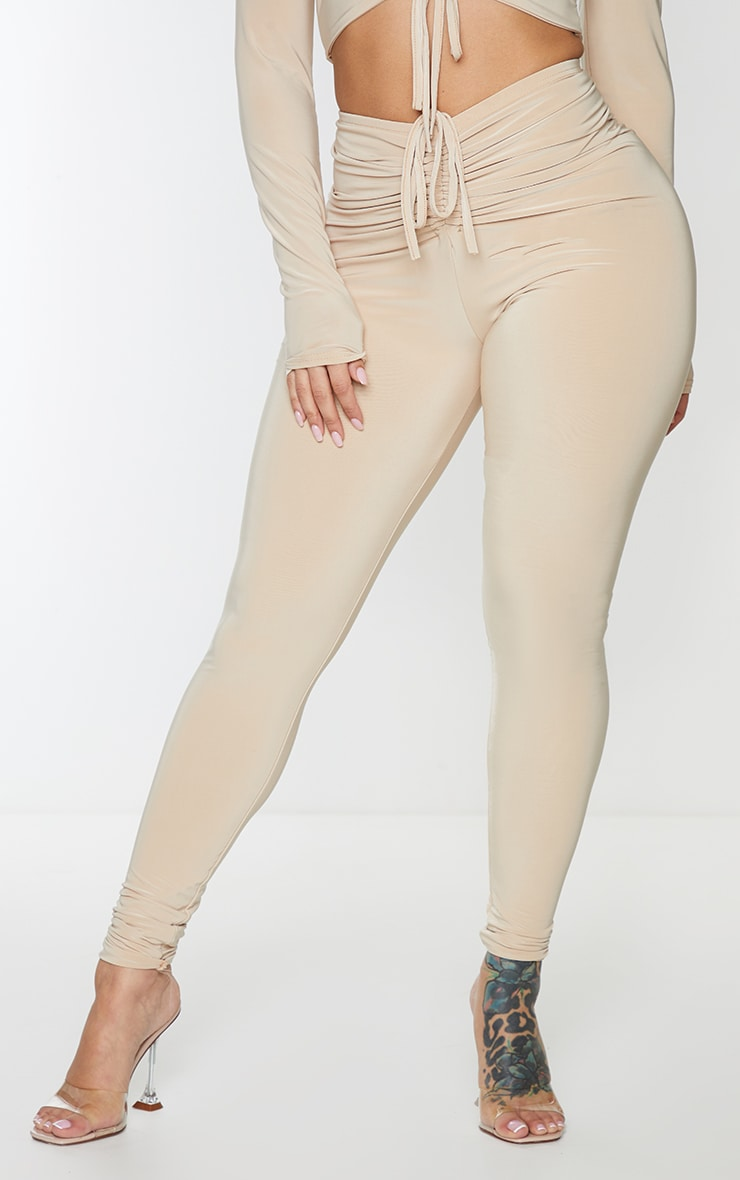 Shape Stone Slinky Ruched Front Leggings 2