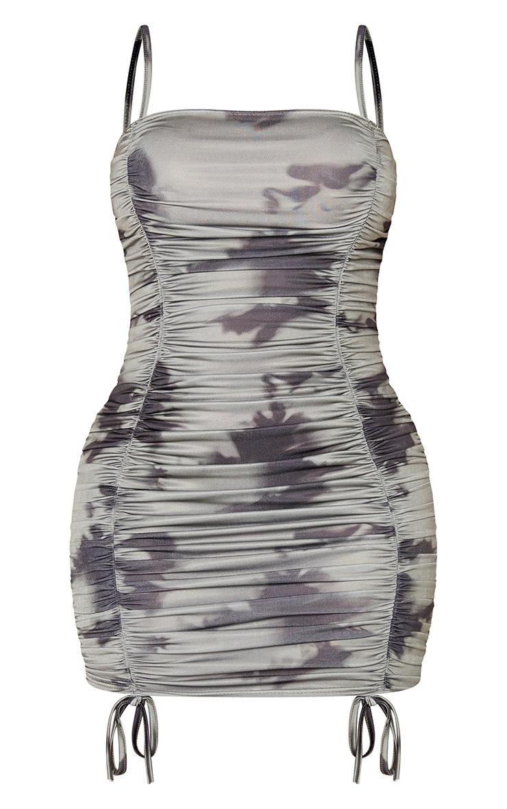 Shape Khaki Camo Ruched Front Bodycon Dress 3