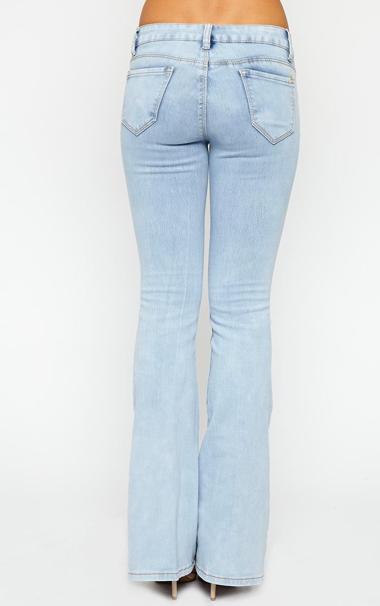 Billie Light Wash Flared Jeans 5
