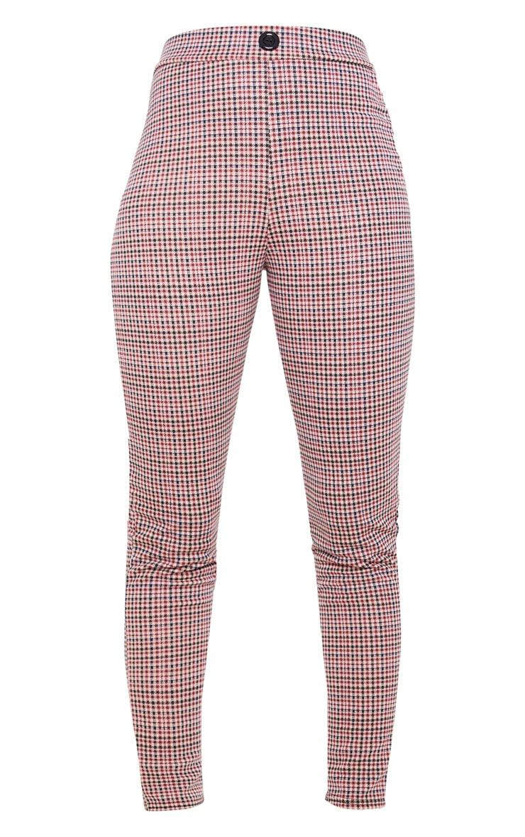 Burgundy Checked Skinny Trouser 3