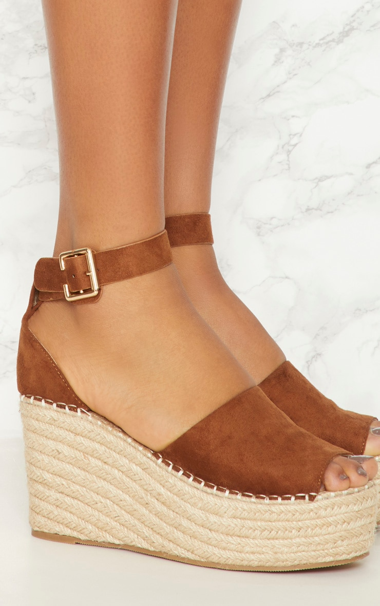 Tan Espadrille Wedge 4
